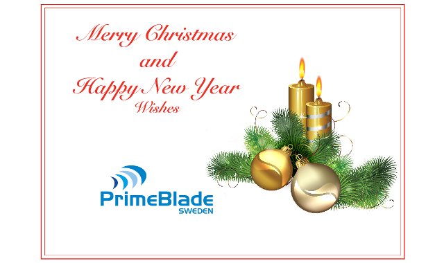 PrimeBlade Christmas Card 2016