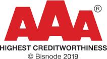 PrimeBlade Sweden AB AAA Highest Creditworthiness 2019 Logo
