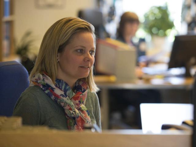 Anja at Work