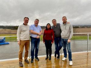 Liliana Cedeño with primeBlade Sales Team